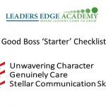 Being A Good Boss
