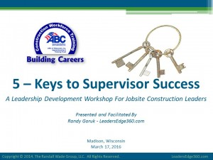 March 17 - 5 Keys to Supervisor Success FINAL