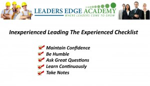 inexperience checklist